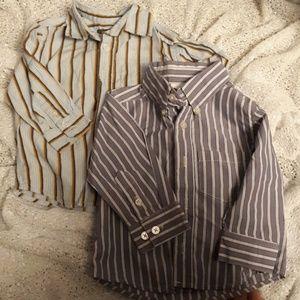 2 button down long sleeve shirts